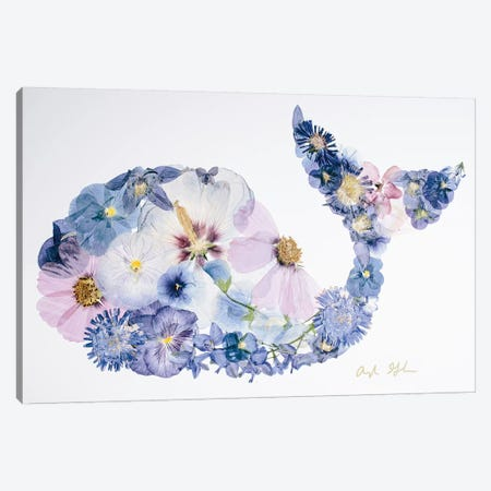 Whale Canvas Print #OFC34} by Oxeye Floral Co Art Print