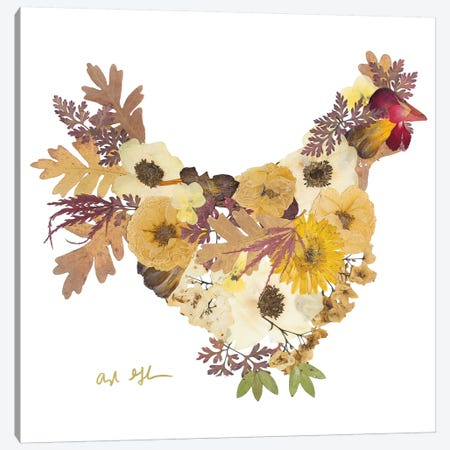 Chicken Canvas Print #OFC8} by Oxeye Floral Co Canvas Artwork