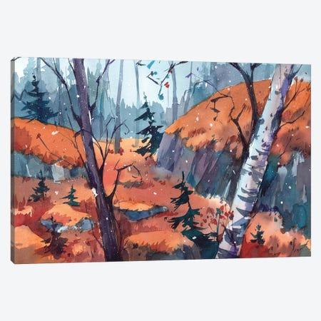 First Snow Canvas Print #OGA13} by Olga Aksenova Canvas Print