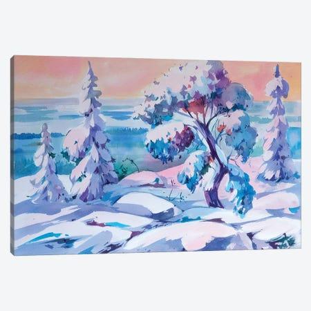 Winter Magic Canvas Print #OGA14} by Olga Aksenova Canvas Artwork