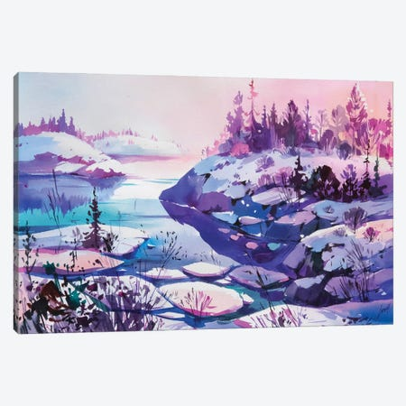 Winter Sun Canvas Print #OGA15} by Olga Aksenova Canvas Art