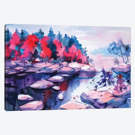 Autumn Contrast Canvas Print #OGA17} by Olga Aksenova Canvas Wall Art