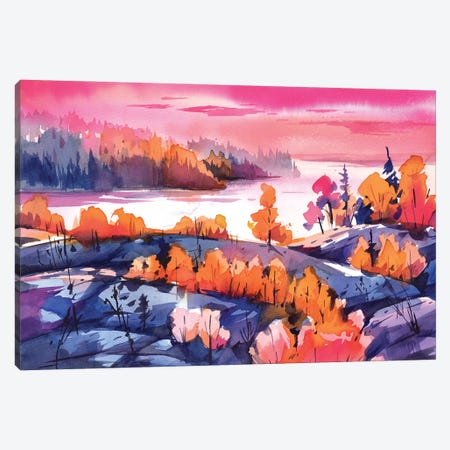 Bright Lake Canvas Print #OGA19} by Olga Aksenova Canvas Print