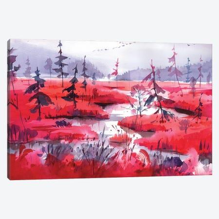 Red Calm Canvas Print #OGA20} by Olga Aksenova Canvas Artwork