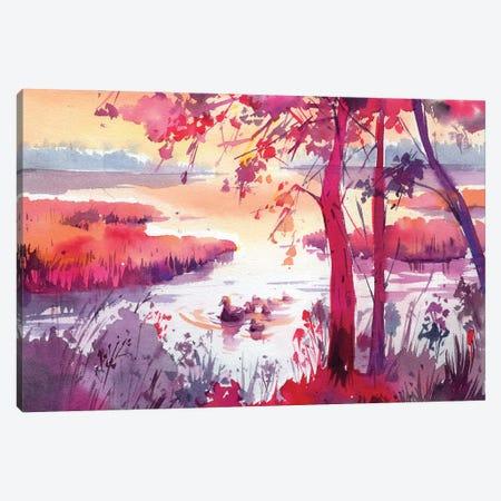 Summer Calm Canvas Print #OGA22} by Olga Aksenova Canvas Artwork