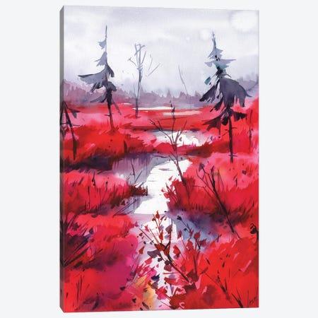Red Calm II Canvas Print #OGA25} by Olga Aksenova Canvas Print