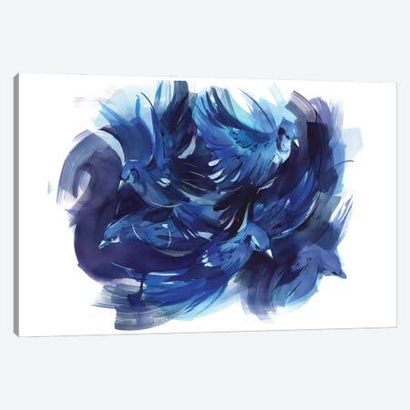 Blue Battle Canvas Print #OGA26} by Olga Aksenova Canvas Art Print