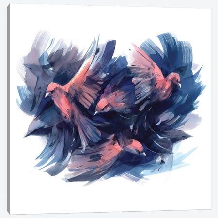 Battle Canvas Print #OGA27} by Olga Aksenova Canvas Art Print