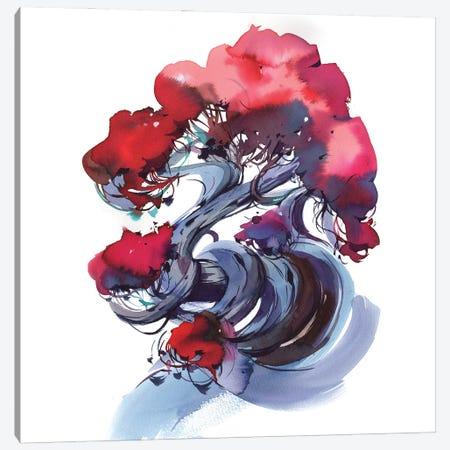 Red Bonsai Canvas Print #OGA41} by Olga Aksenova Canvas Artwork