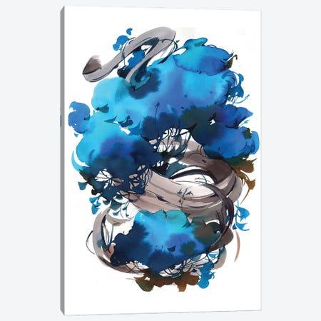 Blue Bonsai Canvas Print #OGA42} by Olga Aksenova Canvas Art