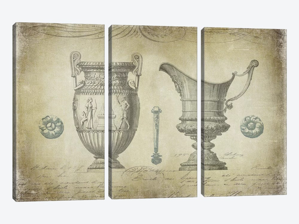 Ornamental IV by Oliver Jeffries 3-piece Canvas Art Print