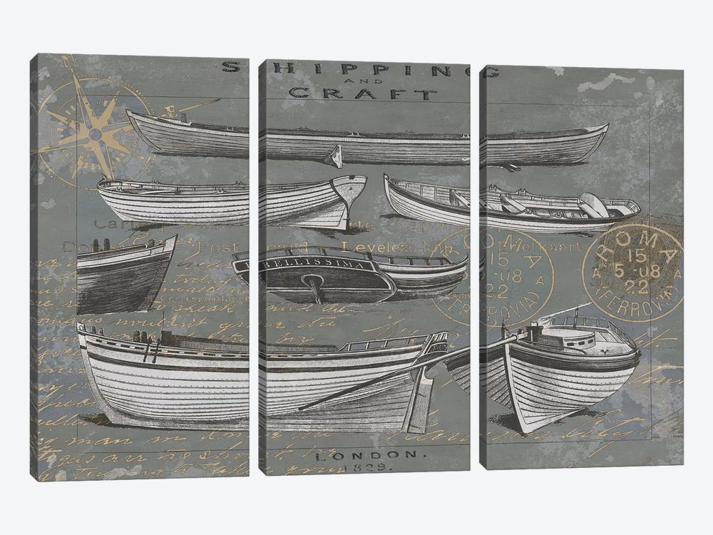 Shipping And Craft I by Oliver Jeffries 3-piece Art Print