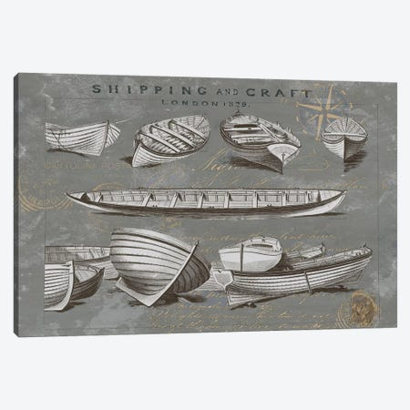 Shipping And Craft II Canvas Print #OJE29} by Oliver Jeffries Art Print