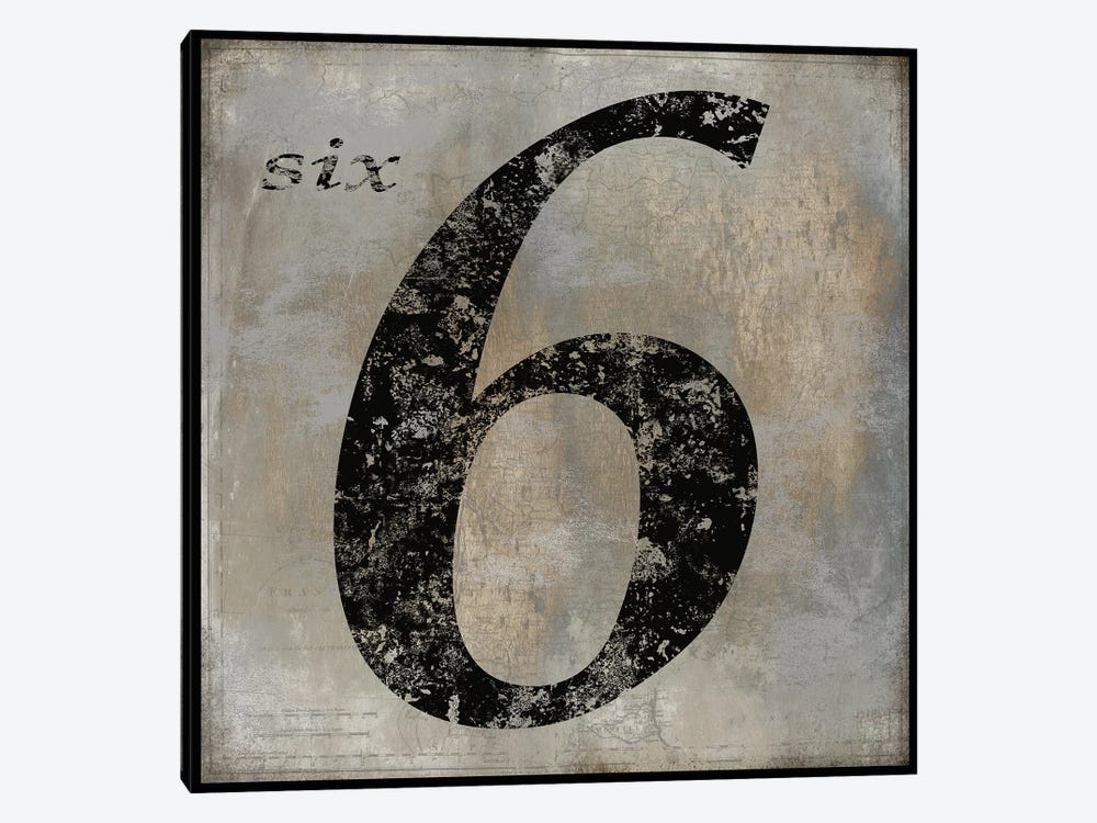 six by Oliver Jeffries 1-piece Canvas Wall Art