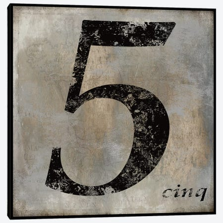 cinq Canvas Print #OJE3} by Oliver Jeffries Canvas Art