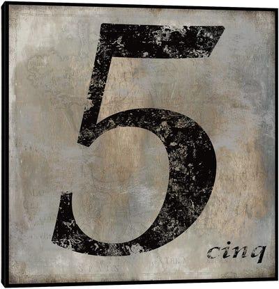 cinq Canvas Art Print