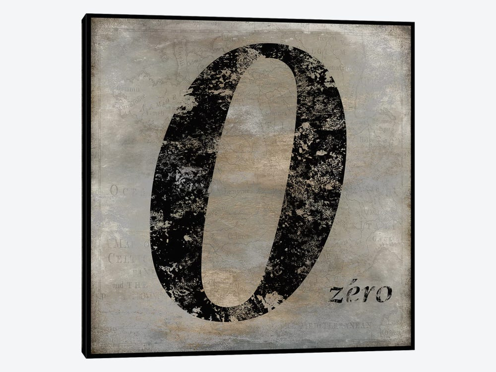 zero by Oliver Jeffries 1-piece Canvas Wall Art