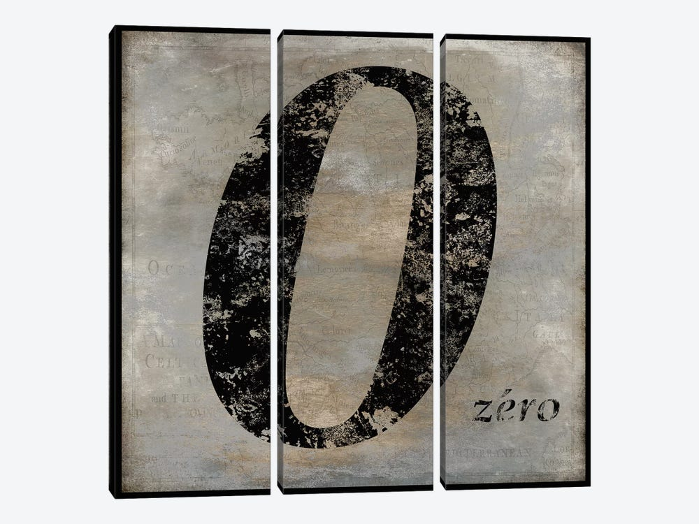 zero by Oliver Jeffries 3-piece Canvas Artwork