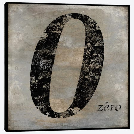 zero Canvas Print #OJE41} by Oliver Jeffries Canvas Print
