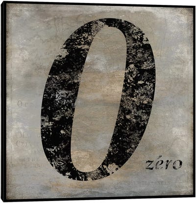 zero Canvas Art Print
