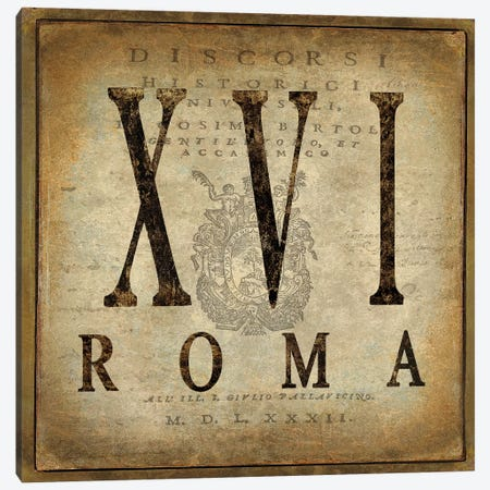 Roma Canvas Print #OJE43} by Oliver Jeffries Art Print