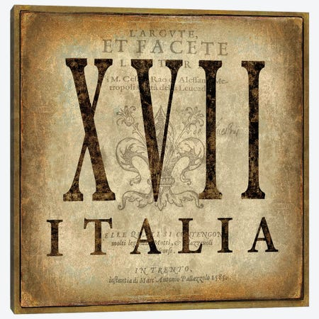 Italia Canvas Print #OJE44} by Oliver Jeffries Canvas Artwork