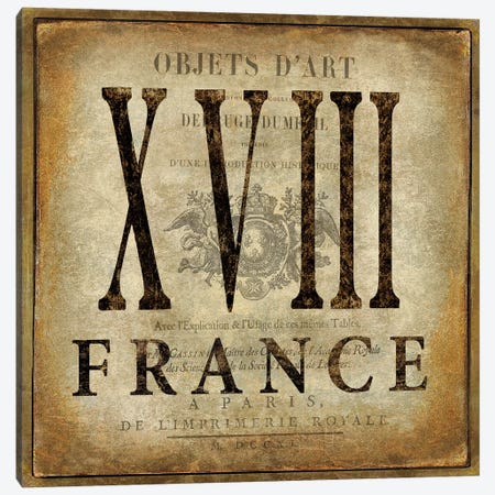 France Canvas Print #OJE45} by Oliver Jeffries Canvas Artwork