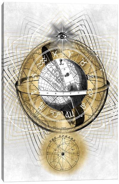 Zodiac Sphere II Canvas Art Print