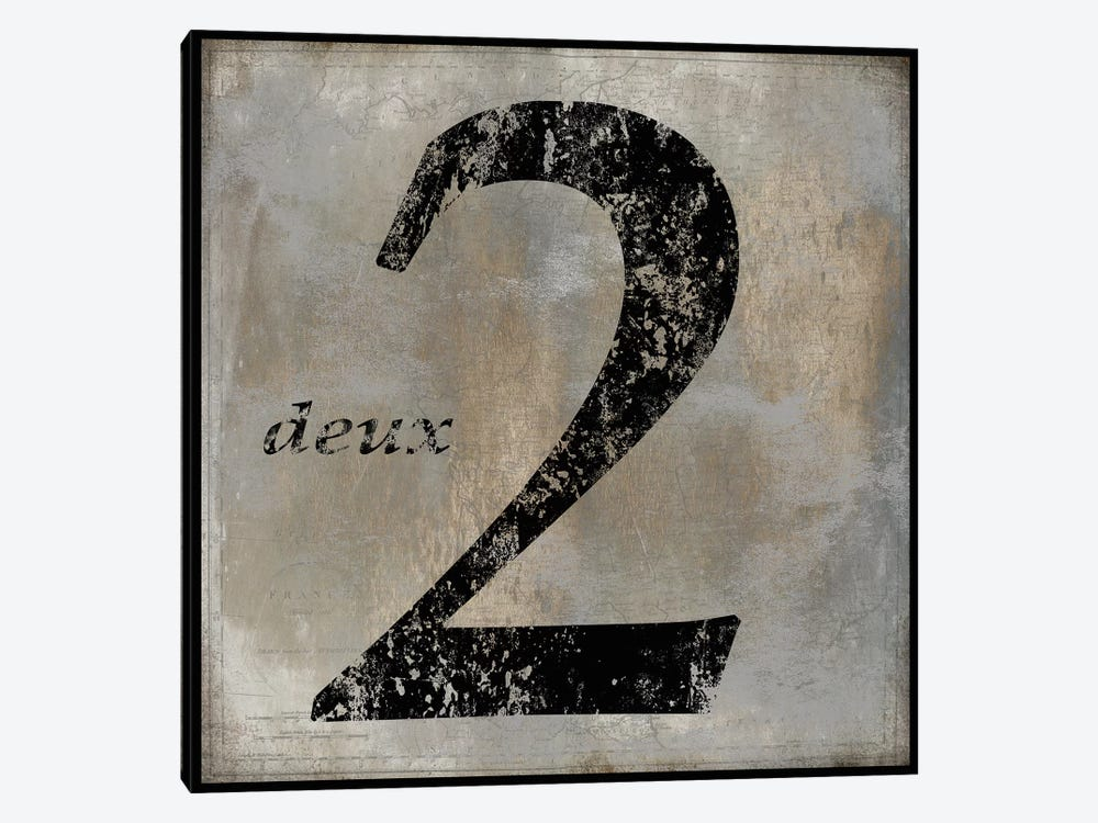 deux by Oliver Jeffries 1-piece Canvas Print
