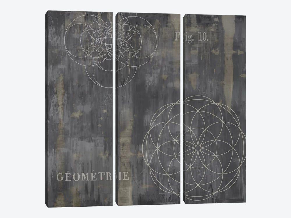 Géométrie IV by Oliver Jeffries 3-piece Canvas Art Print