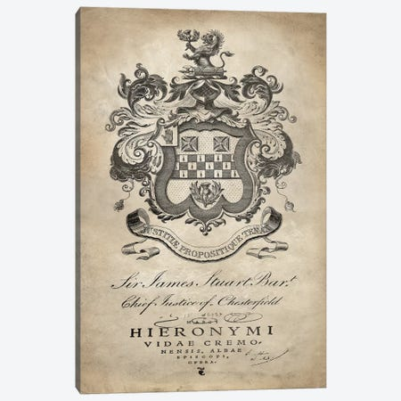 Heraldry I Canvas Print #OJE9} by Oliver Jeffries Canvas Artwork