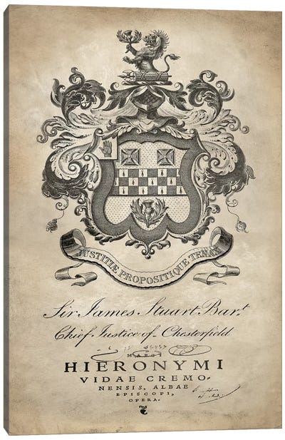 Heraldry I Canvas Art Print