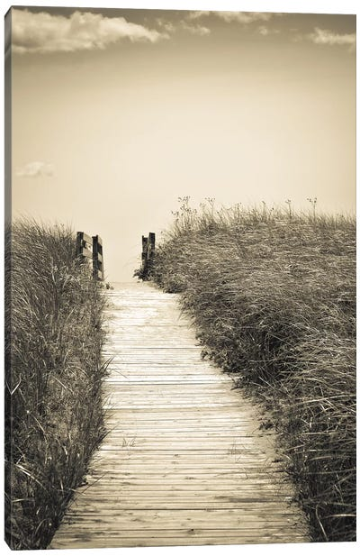 Beach Boardwalk Canvas Art Print