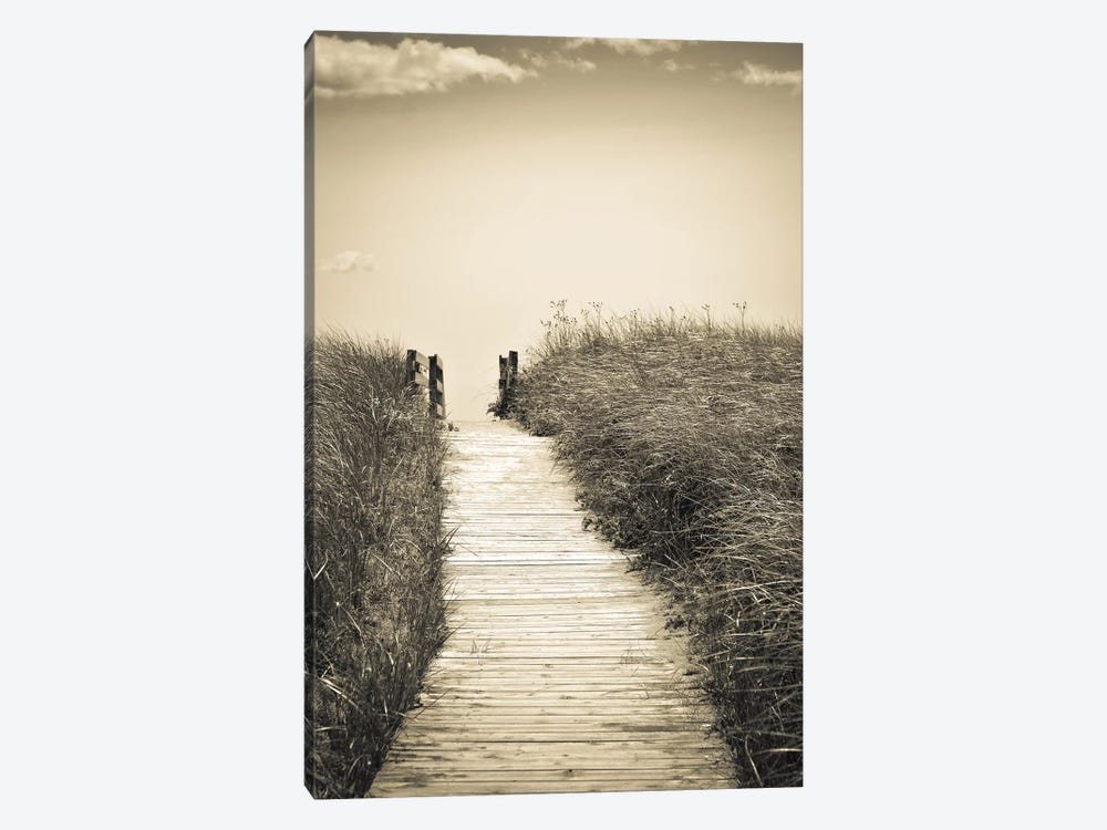 Beach Boardwalk by Olivia Joy StClaire 1-piece Canvas Print