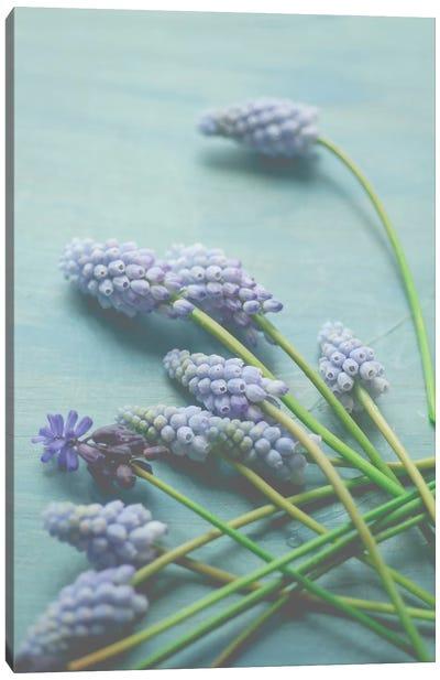 Blue Floral Still Life Canvas Art Print