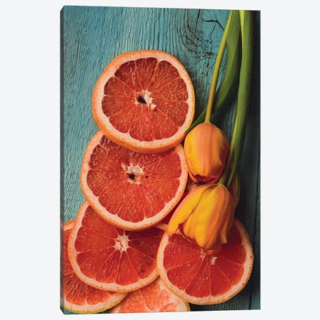 Citrus IV Canvas Print #OJS111} by Olivia Joy StClaire Canvas Art