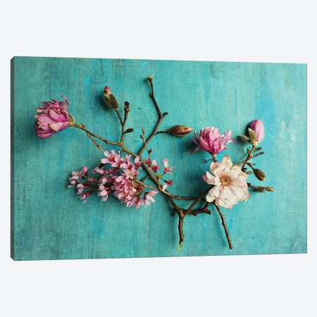 Flowers Of Spring 3-Piece Canvas #OJS132} by Olivia Joy StClaire Canvas Wall Art