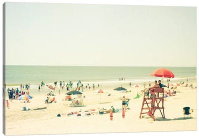 Day At The Beach Canvas Art Print