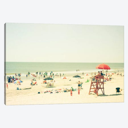 Day At The Beach Canvas Print #OJS14} by Olivia Joy StClaire Art Print