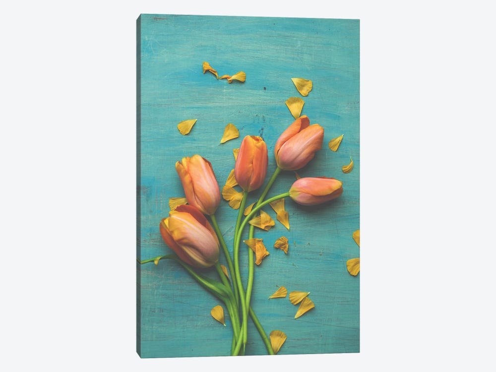 Orange Tulip Still Life II by Olivia Joy StClaire 1-piece Art Print