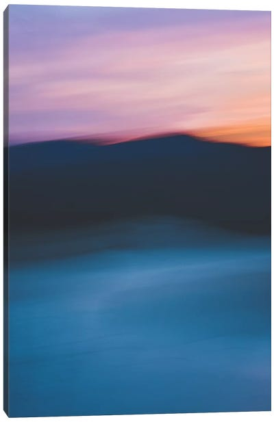 Sunset Over The Mountain Canvas Art Print
