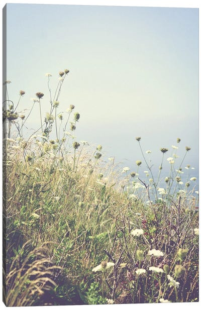 Wildflowers By The Sea Canvas Art Print