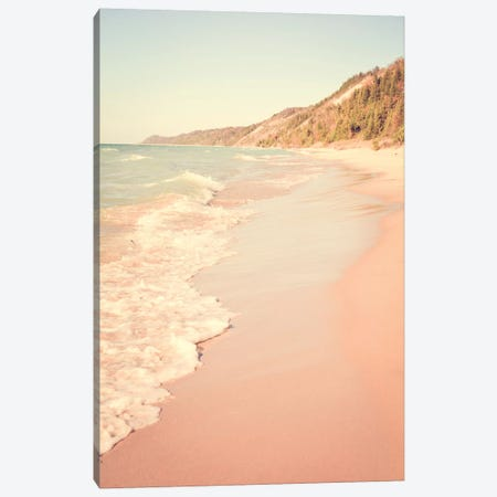 Her Mind Wandered With the Waves Canvas Print #OJS210} by Olivia Joy StClaire Art Print