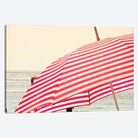 Summer Beach Umbrella Canvas Print #OJS213} by Olivia Joy StClaire Canvas Print