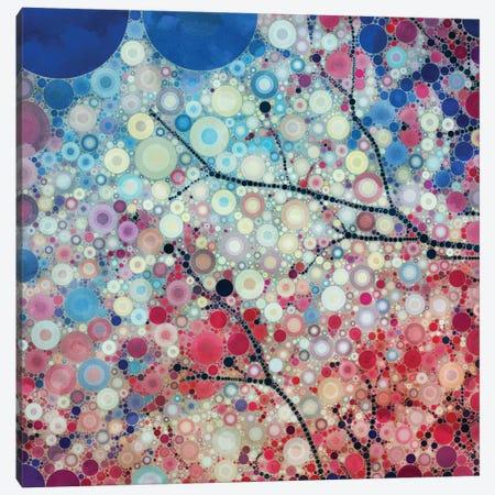 Positive Energy Blue Canvas Print #OJS30} by Olivia Joy StClaire Canvas Artwork