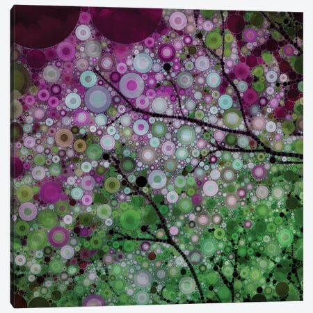 Positive Energy Purple Canvas Print #OJS31} by Olivia Joy StClaire Canvas Wall Art