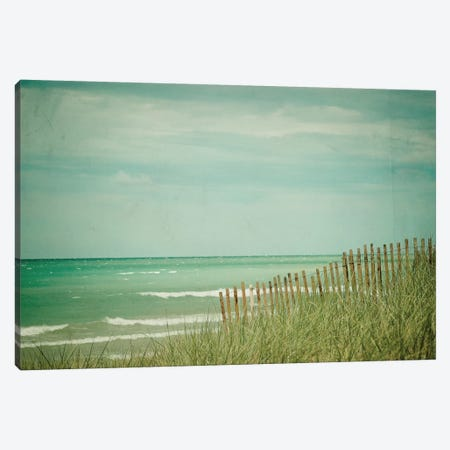 Summer At The Beach Canvas Print #OJS42} by Olivia Joy StClaire Canvas Art Print