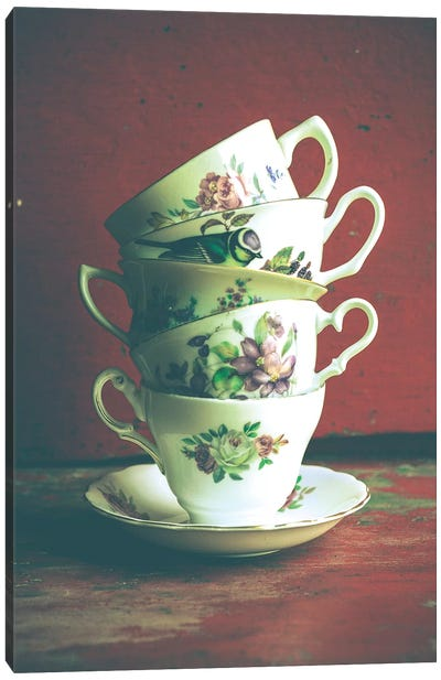 Vintage Tea Cups Canvas Art Print