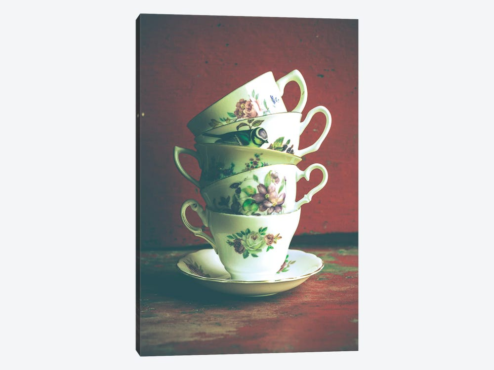 Vintage Tea Cups 1-piece Art Print