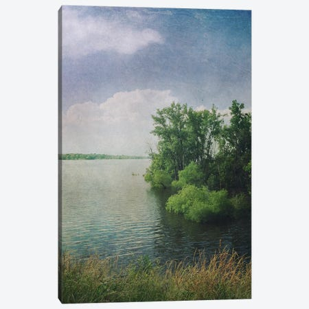 Water And Clouds Canvas Print #OJS48} by Olivia Joy StClaire Art Print